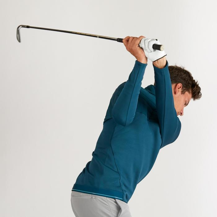 Golf Fleecepullover warm Herren dunkelgrün