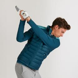 Golf Steppweste warm Herren dunkelgrün