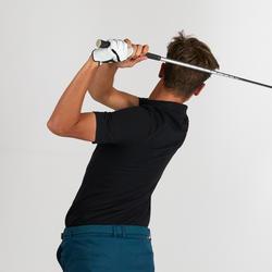 男款溫和氣候短袖高爾夫球POLO衫-黑色