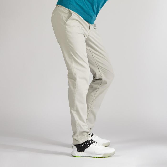 Golfbroek voor heren zacht weer zandkleur