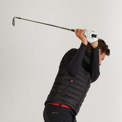 Golf Steppweste warm Herren schwarz