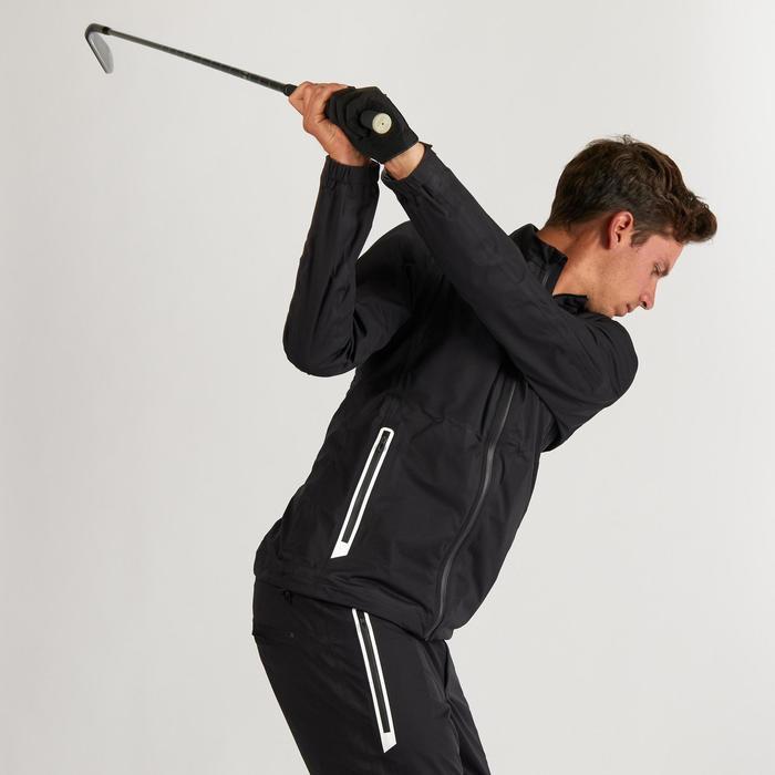 Golf Regenjacke wasserdicht Herren schwarz