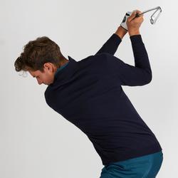 Golf Pullover winddicht Herren dunkelblau meliert