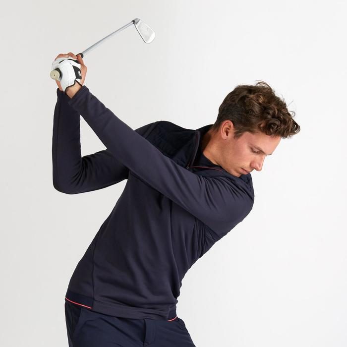 Golf Pullover Fleece warm Herren marineblau