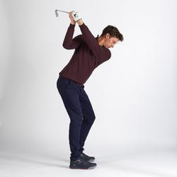 PULL COUPE VENT DE GOLF HOMME TEMPS TEMPERE BORDEAUX CHINE