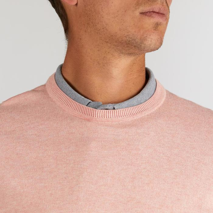 PULL GOLF HOMME ROSE PALE