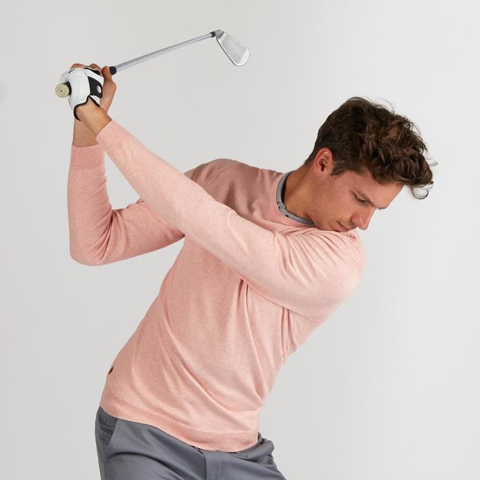PULL DE GOLF HOMME ROSE PALE