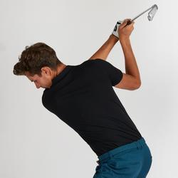 Polo de golf homme manches courtes 500 temps tempéré noir