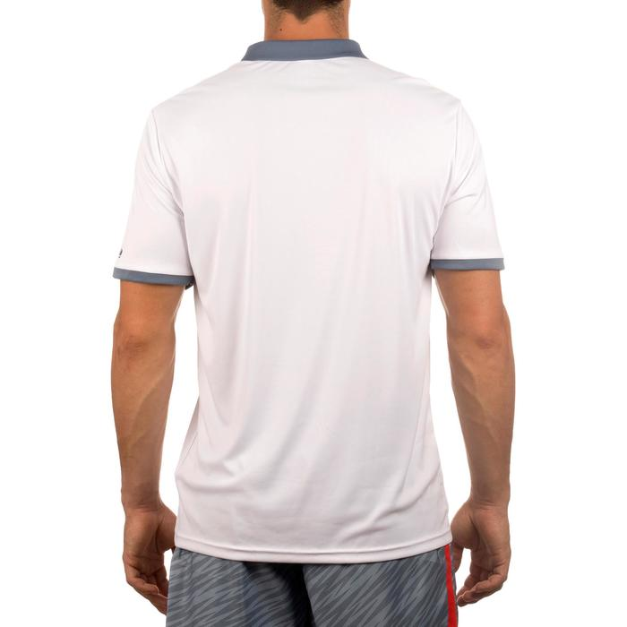 POLO HOMME SOFT BLANC 500 TENNIS BADMINTON TENNIS DE TABLE PADEL SQUASH ARTENGO