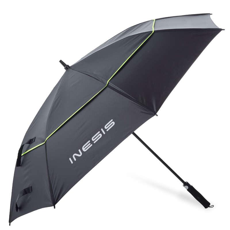 GOLFPARAPLYER Golf - PROFILTER LARGE svart/gult INESIS - Golfutrustning
