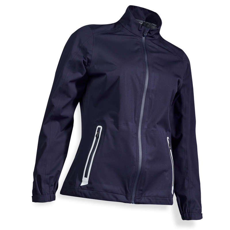 WOMEN GOLF RAINWEAR Golf - W RAIN JACKET NAVY INESIS - Golf Clothing