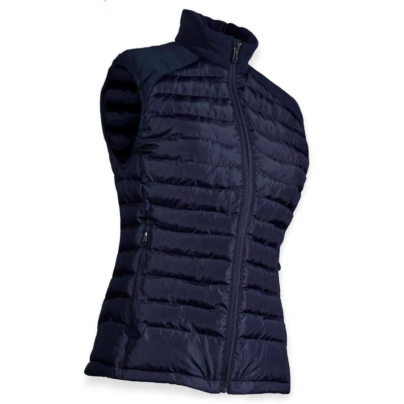 WOMENS COLD WEATHER GOLF CLOTHING Golf - CW SLEEVELESS PADDED JACKET - NAVY  INESIS - Golf Clothing