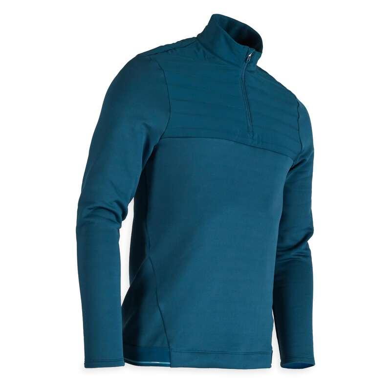 MENS COLD WEATHER GOLF CLOTHING Golf - CW FLEECE SWEATSHIRT DK PETROL INESIS - Golf Clothing