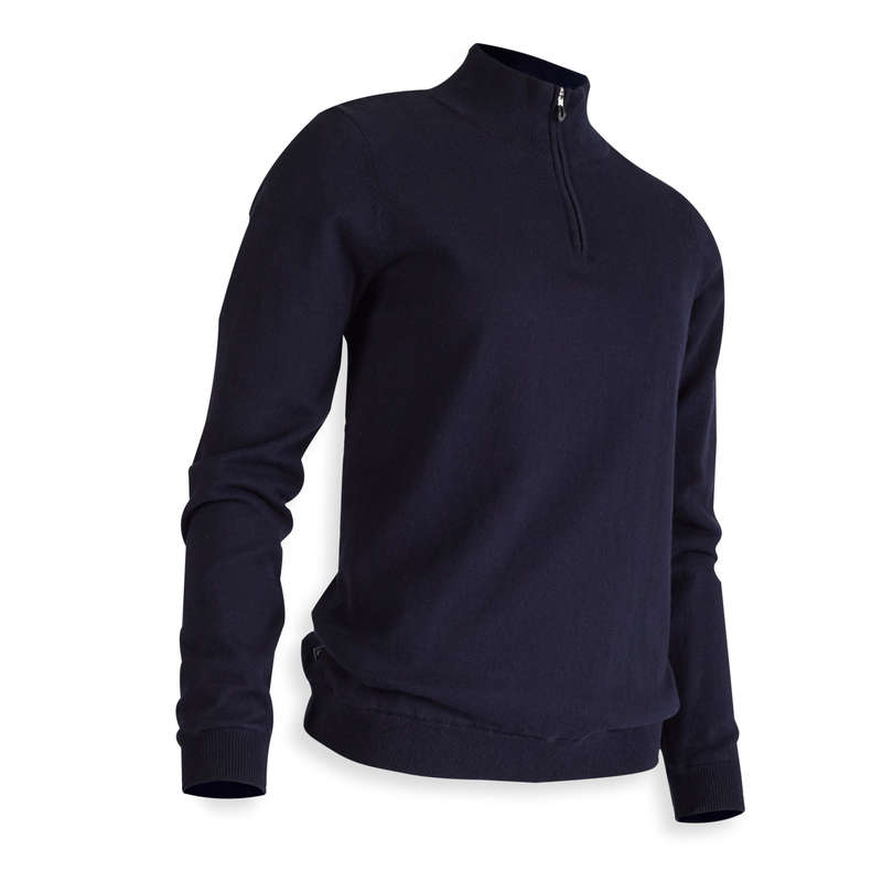 WOMENS MILD WEATHER GOLF CLOTHING Golf - W MW Windproof Pullover - Navy INESIS - Golf Clothing