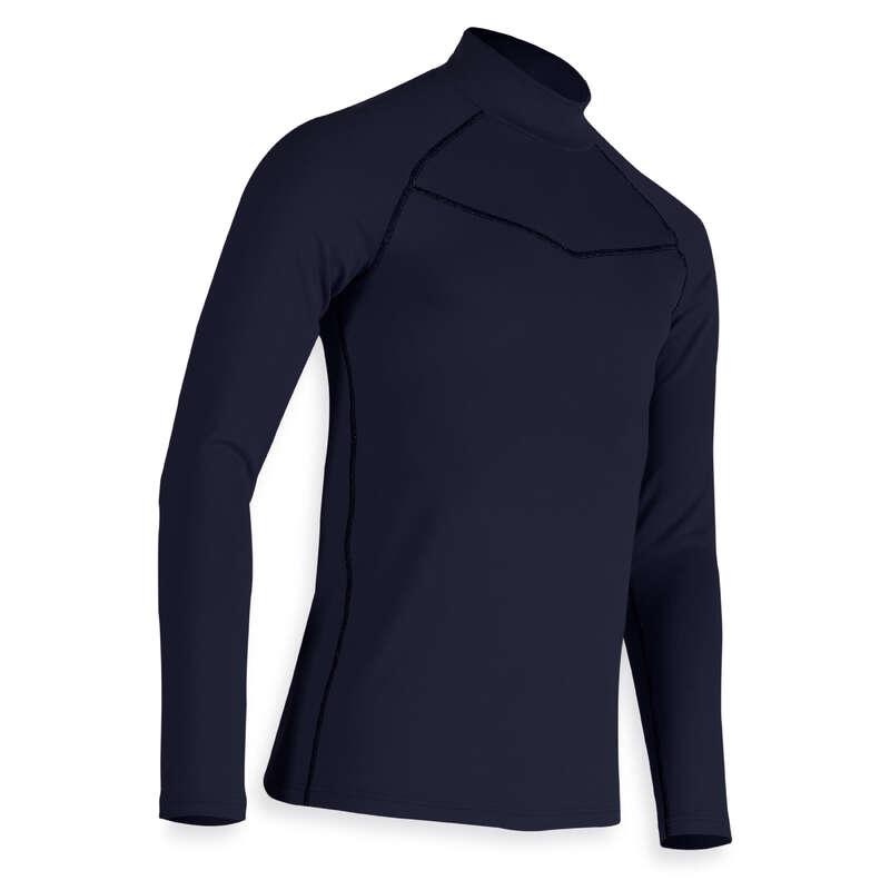 PÁNSKÉ GOLFOVÉ OBLEČENÍ DO CHLADNÉHO POČASÍ Golf - SPODNÍ TRIČKO TMAVĚ MODRÉ INESIS - Golfové oblečení