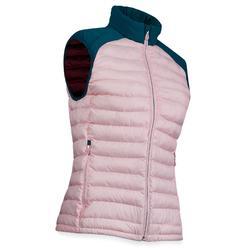 Gewatteerde bodywarmer voor golf dames koud weer roze petrol