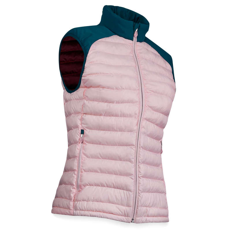 WOMENS COLD WEATHER GOLF CLOTHING Golf - CW SLEEVELESS PADDED JACKET - PINK  INESIS - Golf Clothing