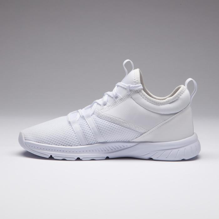 Chaussures cardio fitness training femme 120 blanc
