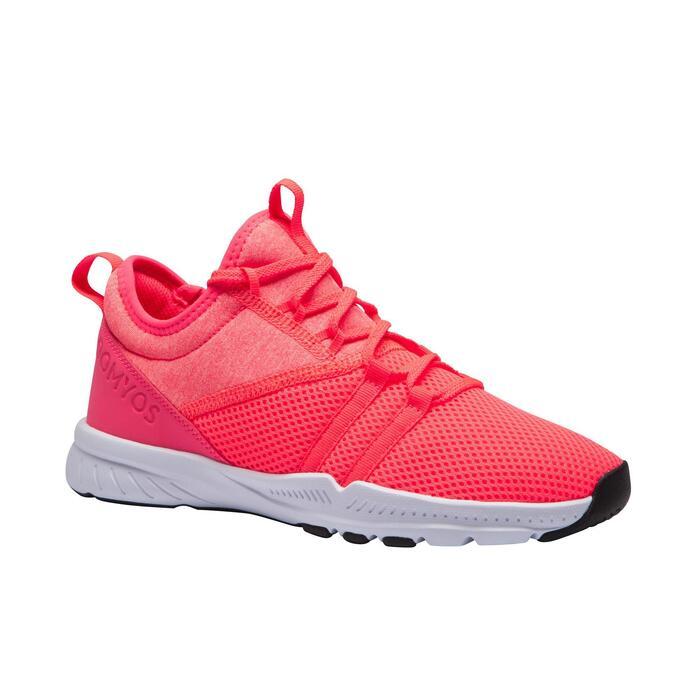 Fitnessschuhe 120 Mid Fitness Cardio Damen rosa