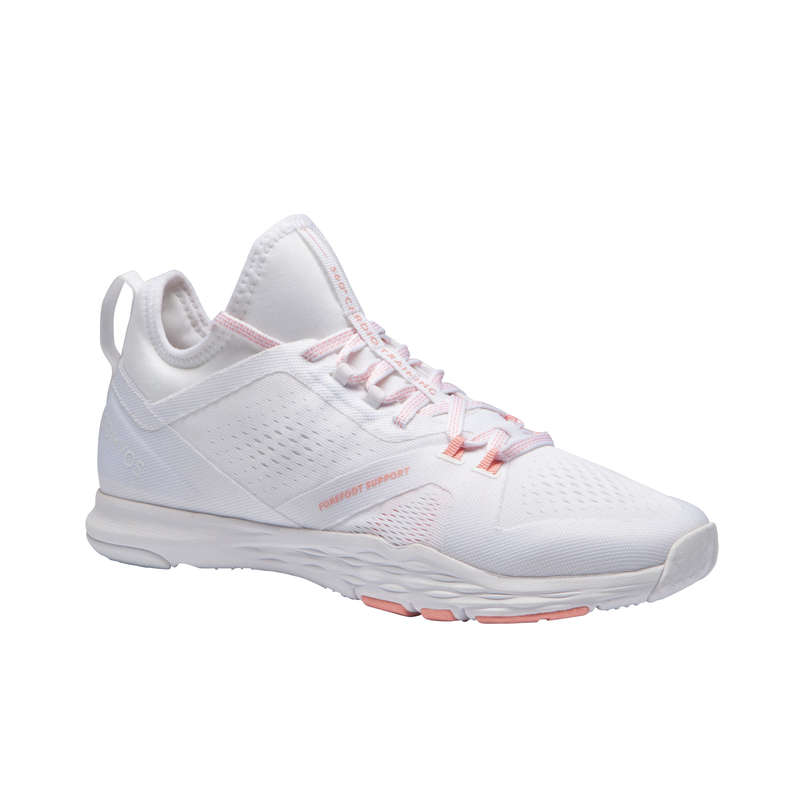 FITNESS SHOES Fitness and Gym - 920 Fitness Shoes - White DOMYOS - Gym Activewear