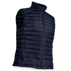Gewatteerde bodywarmer voor golf dames koud weer marineblauw