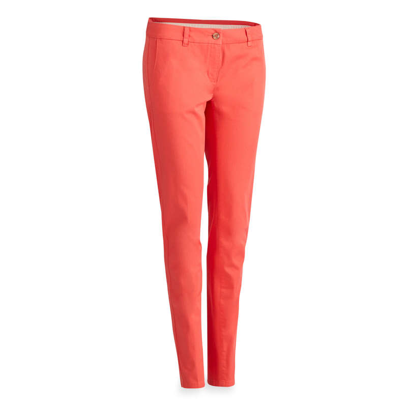 WOMENS MILD WEATHER GOLF CLOTHING Golf - STRAWBERRY PINK W MW TROUSERS INESIS - Golf Clothing
