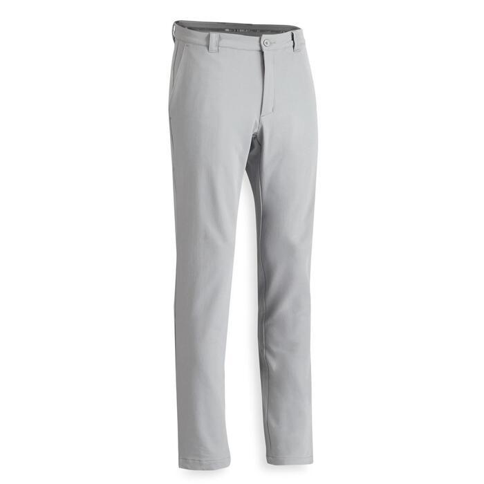 Golfbroek voor heren koud weer grijs