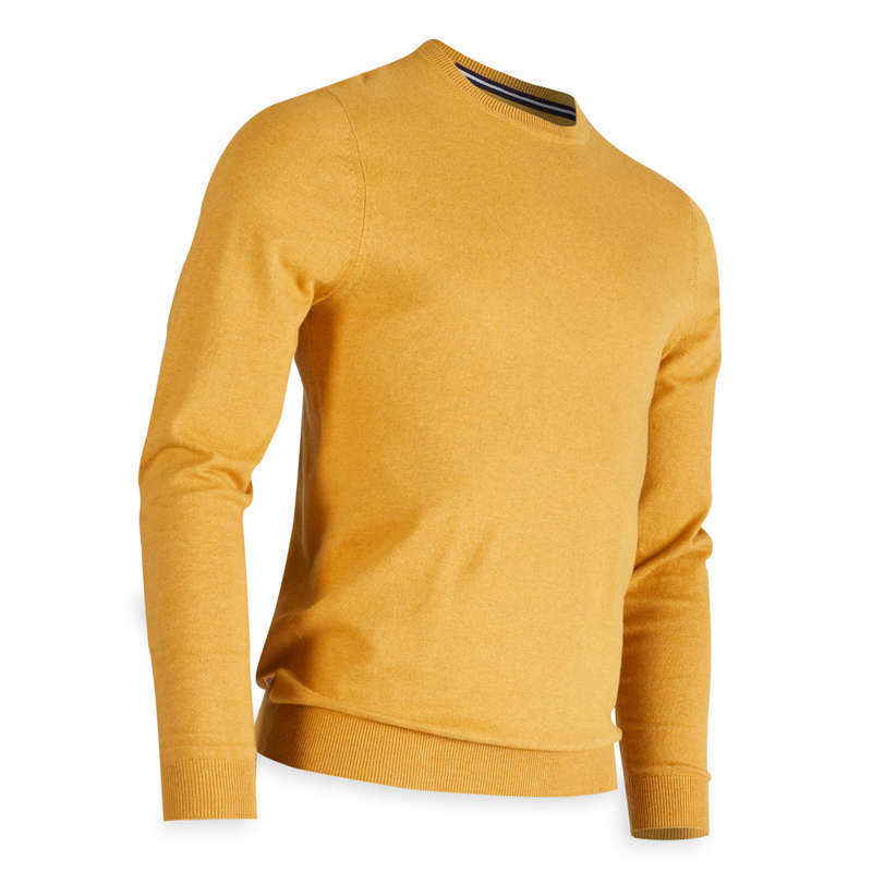 MENS MILD WEATHER GOLF CLOTHING Golf - Men's Pullover - Yellow INESIS - Golf Clothing