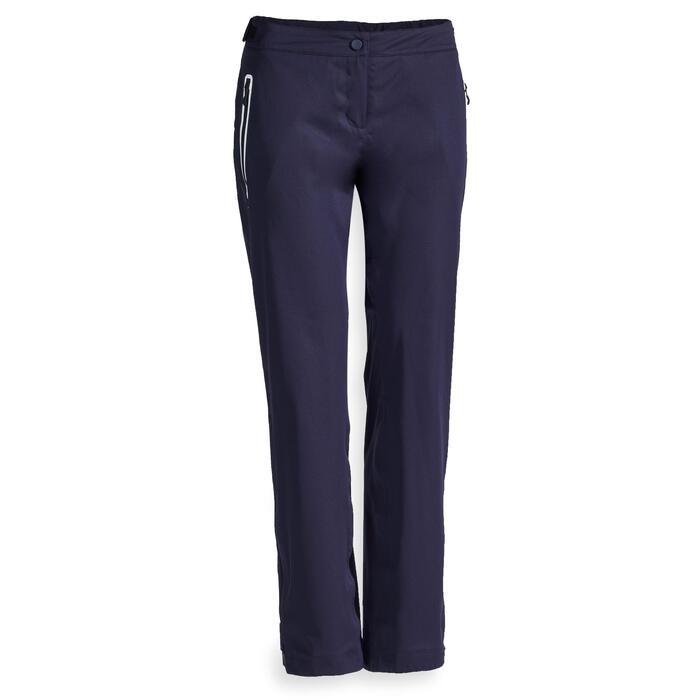 Pantalon de golf de pluie imperméable FEMME BLEU MARINE