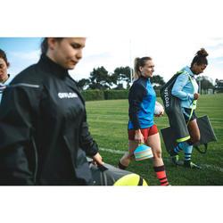 Rugby-Stutzen R500 Damen blau