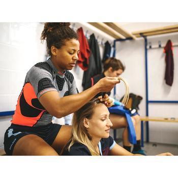 Shoulder pad voor rugby dames R900 grijs/koraalrood