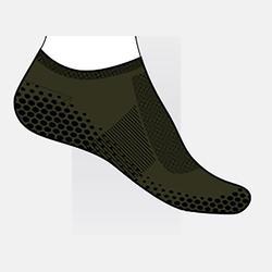 Antislip sokken voor pilates heren groen