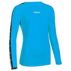 Handbalshirt dames H100C met lange mouwen lichtblauw