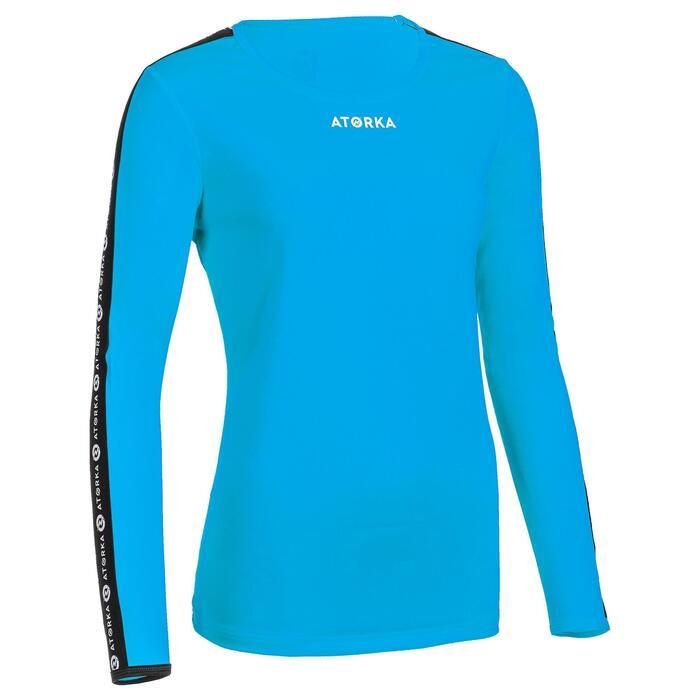 Handbalshirt met lange mouwen dames H100C lichtblauw