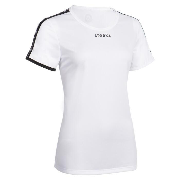Handbalshirt met korte mouwen voor dames H100C wit