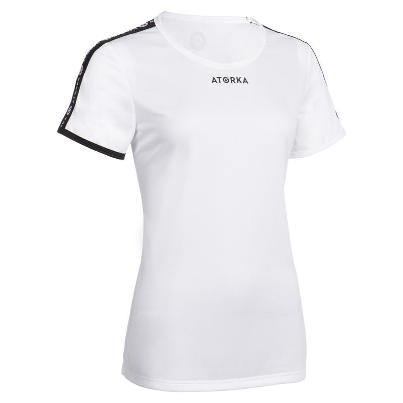Maillot manches courtes de handball femme H100C blanc