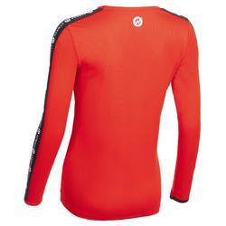 Handbalshirt met lange mouwen dames H100C rood