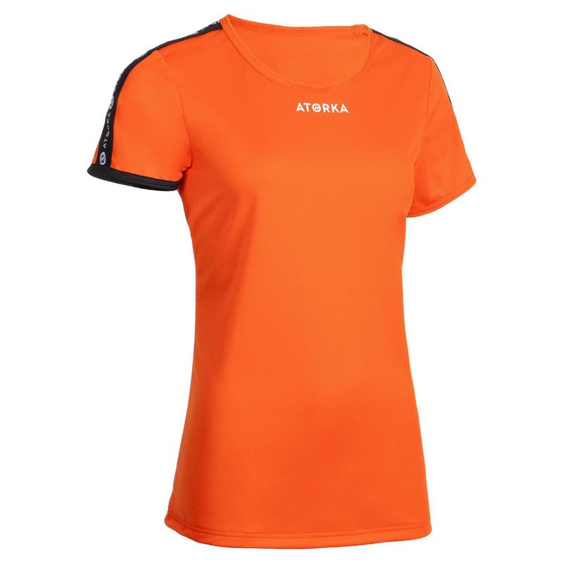 Maillot manches courtes de handball femme H100C orange