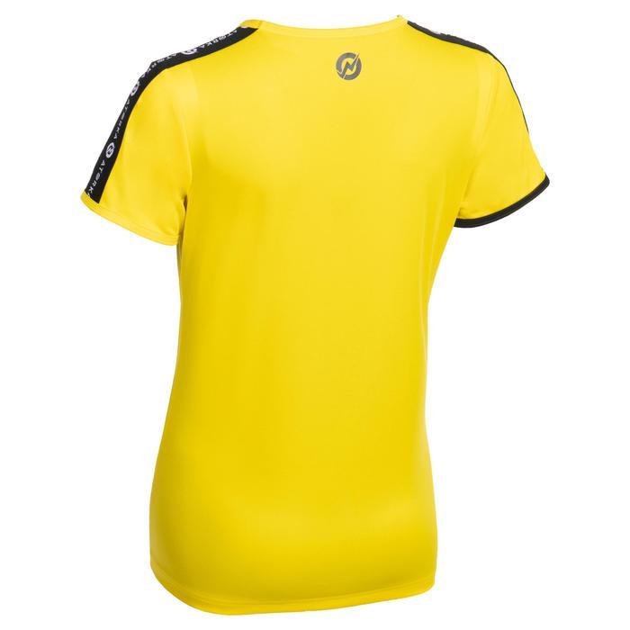 Handbalshirt met korte mouwen voor dames H100C geel