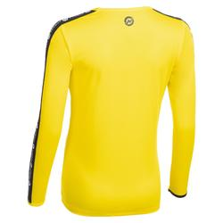 Camiseta manga larga de balonmano mujer H100C amarillo