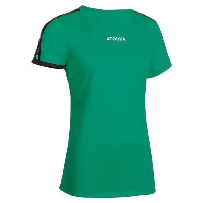 Maillot manches courtes de handball femme H100C vert
