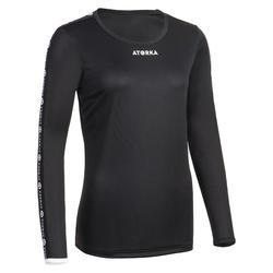 Handbalshirt met lange mouwen dames H100C zwart