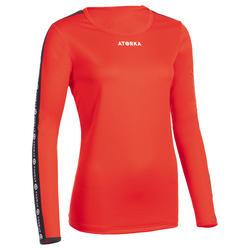 Handbalshirt dames H100C met lange mouwen rood