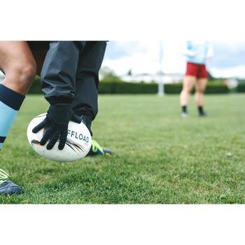Rugbyhandschoenen R500 zwart volwassenen winter
