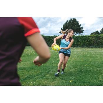 Rugbytop voor dames blauw/pruim