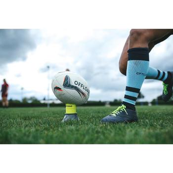 Rugbysokken voor dames 500 blauw
