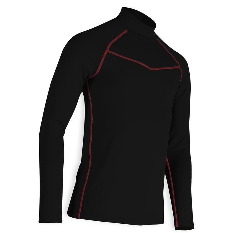 Camiseta Cuello Alto Golf CW500 Hombre Negro Invierno