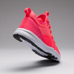 Fitness schoenen cardiotraining 120 voor dames, roze