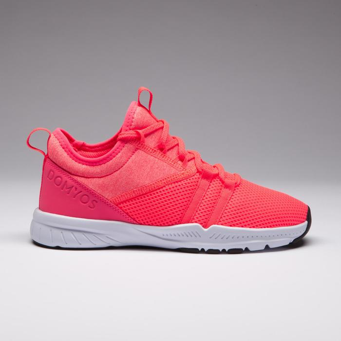 Chaussures cardio fitness training femme 120 rose