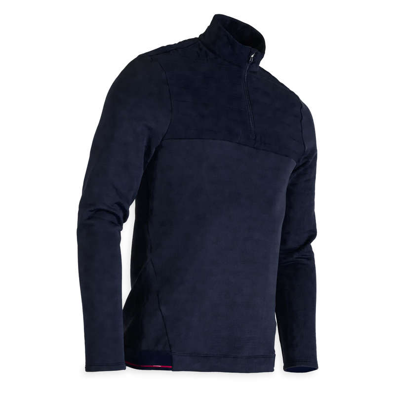 MENS COLD WEATHER GOLF CLOTHING Golf - CW FLEECE SWEATSHIRT NAVY BLUE INESIS - Golf Clothing